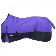 "Tough-1 78"" Purple 1200D 150gm Fill Waterproof Poly Turnout Blanket Horse Tack"