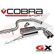 Vw54 Cobra Sport VW Golf Gtd Mk6 5K 170PS 09-13 CAT BACK SISTEMA-TWIN un lato