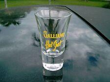 "GALLIANO HOT SHOT  BRIGHT YELLOW  LOGO  3.5"" FLARED  SHOT GLASS"