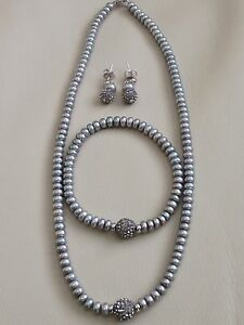 Honora Cultured Freshwater Pearl Necklace, Bracelet And Earrings