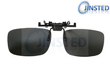 Large Black Polarised Polarized Flip Flip-Up Clip On Clip-On Sunglasses ACP003