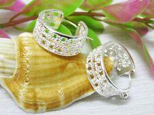 New Womens Jewellery Basketball Wives Hoop Earrings 925 Sterling Silver Plated