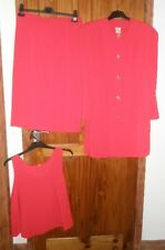 LADIES 3 PIECE RED WEDDING OUTFIT SIZE 16 (ITEM LABEL SAYS 42)