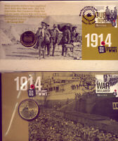 2014 WORLD WAR I   ANZACS  TWO DIFFERENT PNCs....GOING  VERY  CHEAP