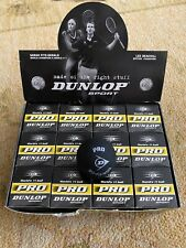 Dunlop Pro Sport Squash Balls Lot - Double Yellow Dot - (6)