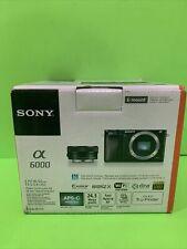 Sony Alpha α6000 24.3MP Digital SLR Camera - Black (Kit with E PZ 16-50mm. Open