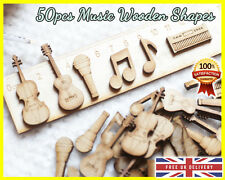 50 Wooden Music Rock Note Shapes Craft Scrapbooking MDF Wood gift Embellishment