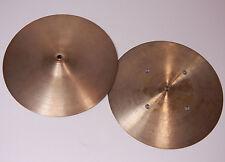 "Zildjian Avedis Flat Hats / Quick Beat 13""  Hi-Hat Cymbal Becken *Vintage*"