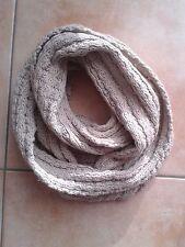 Loop Damen Schal und Tuch Schlauchtuch Grobstrick beige