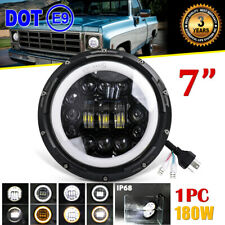 "DOT 7"" Inch 180W LED Headlight turn signal DRL for Chevy C10 Camaro Pickup Truck"
