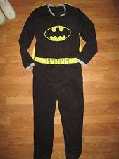 Mens BATMAN one piece soft fleece pajamas pjs M Md Med