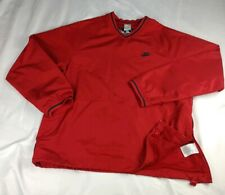 Nike Men's Sz L Baseball 72 V Neck Red Pullover Windbreaker Jacket A+ CONDITION