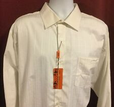 Sette Ponti Dress Shirt New With Tags Men's XXL White On White Window Pane Plaid