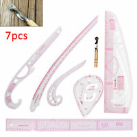 7pcs Sew French Curve Ruler Metric Measure for Sewing Dressmaking Tailor Tool