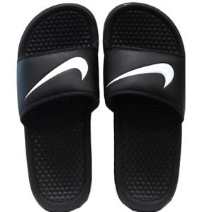 New Nike Sliders Benassi Swoosh/black/pool/soft/slip on /beach/flip flops Unisex