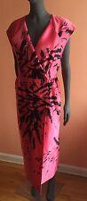 Miu Miu by Prada Runway S13 Silk Black Pink Wrap-Front Dress NWT$5590~ S/40