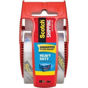 3M Scotch Heavy Duty Shipping Packaging Tape & Dispenser New! 1.88 in x 800in!