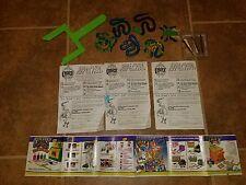 Vtg. 1993 Creepy Crawlers Workshop Toymax green handle, prying tools parts ++