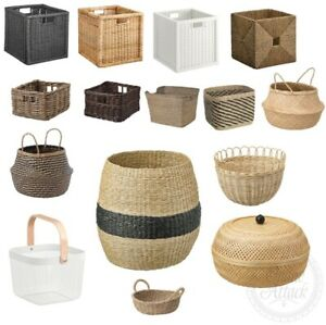 Dekoration Ikea Korb Körbe Aufbewahrung Seegras Bambus rattan Kallax handmade