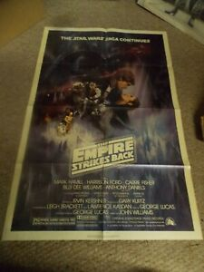 THE EMPIRE STRIKES BACK(1980)HARRISON FORD ORIGINAL ONE SHEET POSTER 27BY41