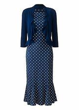New With Tags Marisota Navy Polka Dot Spot Dress & Bolero 20