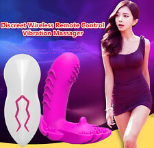 Female Invisible Wearable Wireless Remote Control Double Shock Vibrator in Panty