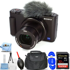 Sony ZV-1 20.1MP/4K Compact Vlog Digital Camera (Black) - Essential 32GB Bundle