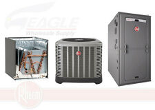 Rheem 80% 100,000 BTU Single Stage Gas Furnace + 3-1/2 Ton 13 SEER A/C System