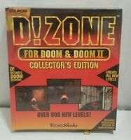 PC Big Box CD-ROM Game D!Zone For Doom & Doom II Collectors Edition 1995 NIB NOS