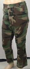 Ralph Lauren Camo Camouflage Prospect Straight Corduroy Leather Tag Pants NWT