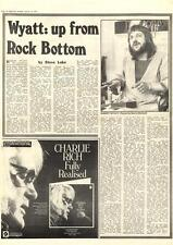 Robert Wyatt Up From Rock Bottom MM4 Interview 1974