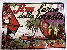 Serie JIM - JIM L'Eore della For  1935 Il Tigre - Anastatico ed. Nerbini  [C21C]
