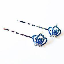 USA Bobby Pin Rhinestone Crystal Hair Clip Hairpin Fashion Crown Blue B64