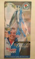 Blackburn Rovers FC Information Guide Poster 1994-1995 Premier League Champions