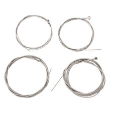 Set of 4 Silver String Bass Guitar Sets 4 Stainless Steel Plated Gauge Strings