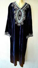 Abaya Maxikleid Kaftan Orient Jellabiya Jalabiya Samtkleid Abendkleid Gr. L