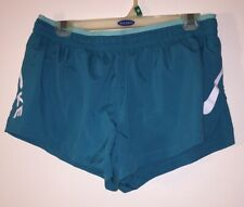 Nike Dri-fit Womens Medium Shirt Running Exercise Workout Polyester Teal Shorts