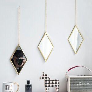 Nordic Metal Makeup Mirror Wall Hanging Gold Color Bedroom Living Room Decors