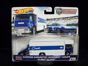 Hot Wheels Car Culture Team Transport Custom Corvette Stingray Coupe.