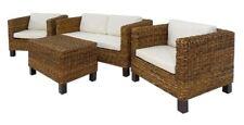 Set in banano naturale midollo divano 2 posti,2 poltrone e tavolino arredo giard
