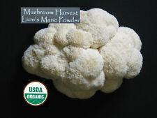 Mushroom Harvest Organic Lions Mane Powder USA grown Hericium erinaceus 1 Pound