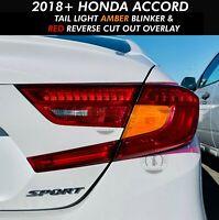RED BLINKER SIGNAL Rear Tail Light Overlay Precut Fit 2016-2019 Honda Civic 4DR
