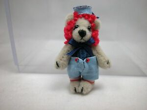 """World of Miniature Bears By Theresa Yang 1.25"""" Cashmere Baby Andy #893 CLOSING"""