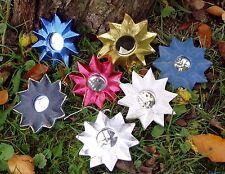 3 Stück Sonnenspiegel, Feng-Shui-Spiegel, Spiegel, Ø 9cm, Holzrahmen, sortiert