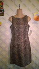 CALIFORNIA CONCEPTS ANIMAL PRINT SHAPELY SLEEVELESS DRESS SCULPTURED NECKLINE  6
