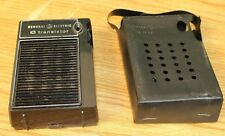 Vintage GE General Electric 6 Transistor Miniature Portable Radio w Case
