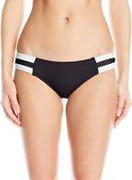 Seafolly Women's 236695 Bikini Bottom BLACK Swimwear Size 10