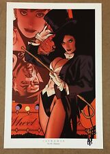 "Adam Hughes signed Women of the Dc Universe Portfolio print 10x15"" Zatanna"
