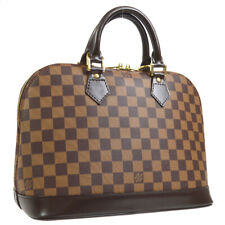 LOUIS VUITTON ALMA HAND BAG PURSE DAMIER EBENE N51131 AUTHENTIC FL0033 38297