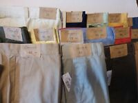 """Roundtree & Yorke Men's Casuals Shorts Sz 46 - Ins 11"""" Flat Front Relaxed Fit"""